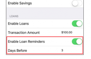loan notifications