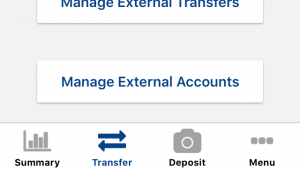 Manage external accounts