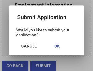 application confirmation