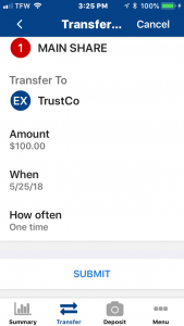 transfer verification